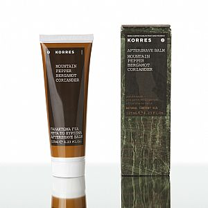 KORRES After Shave Balm Mountain Pepper, Περγαμόντο και Κορίανδρο 125ml