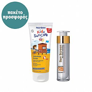 FREZYDERM KIDS Sun Care SPF50+ ADULT Sun Screen Velvet Face SPF50 Πακέτο Προσφοράς
