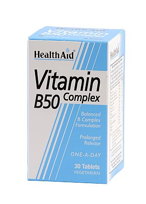 HEALTH AID Vitamin Complex B50 Vegan 30tbs